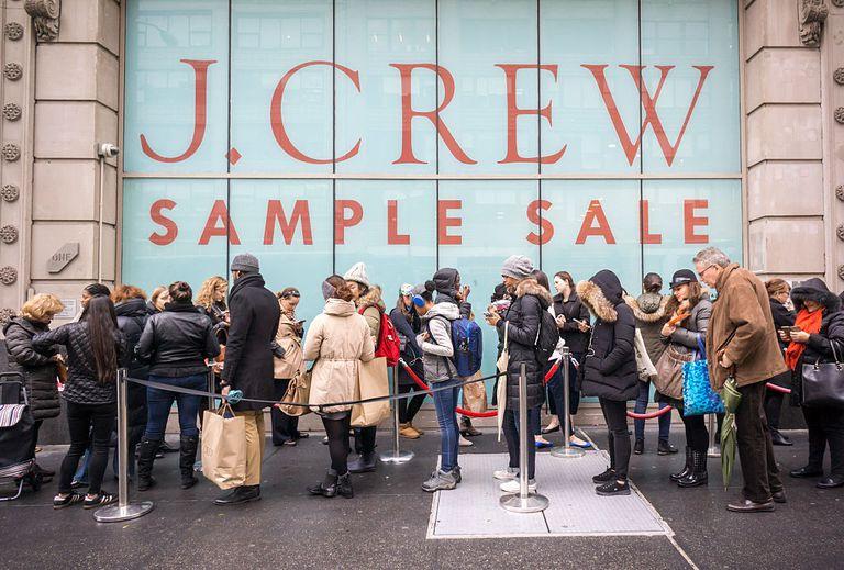 J. Crew sample sale