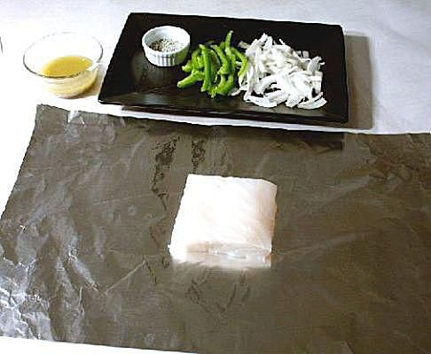 Making a Halibut Packet for the Grill - Step One
