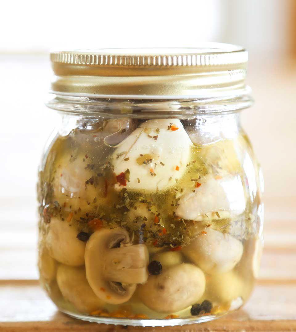 Zesty Marinated Mushrooms