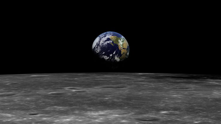 earth from moon's orbit