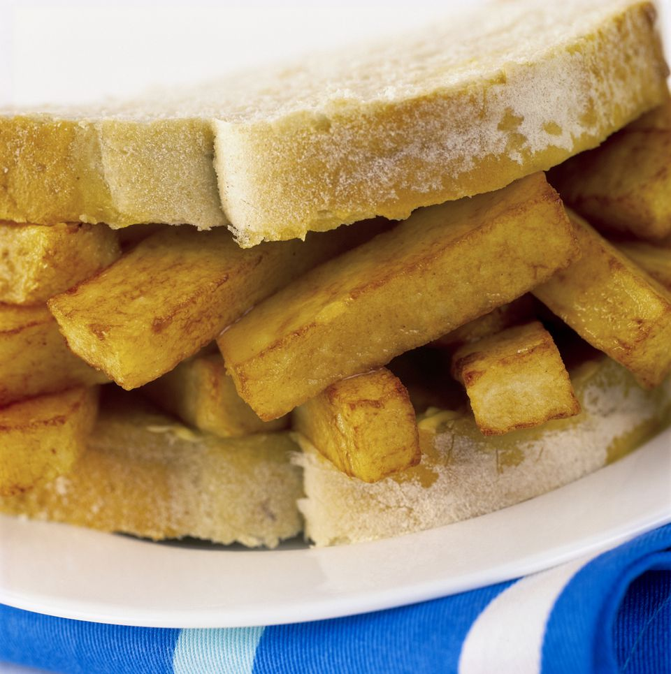 Chip Butty Close up