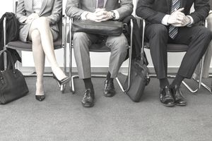 A picture of business people waiting for a media job interview