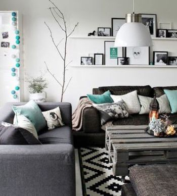 Creating decorating show style in your home - Decoratie salon grijs wit ...