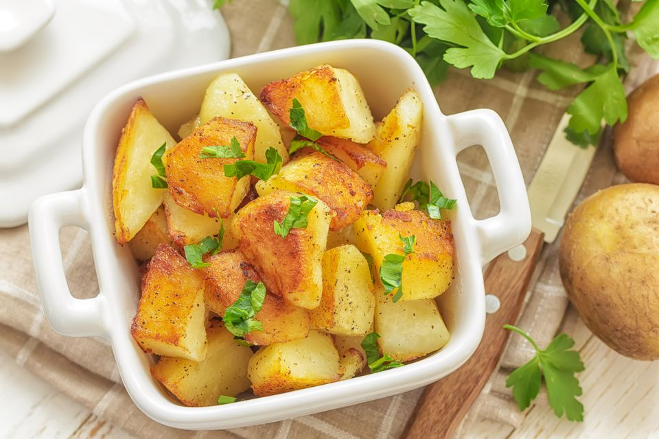 roasted potatoes with parsley