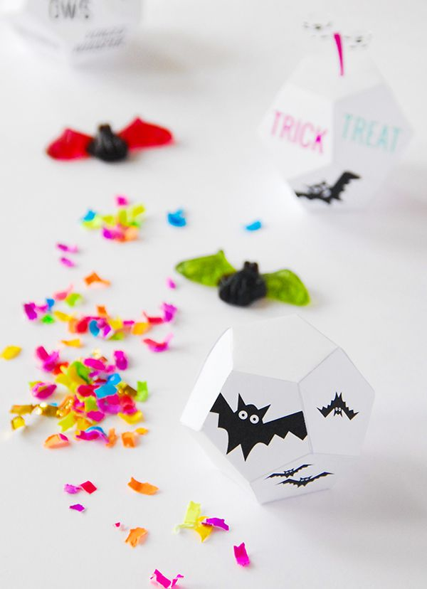 Printable Halloween Favor Boxe