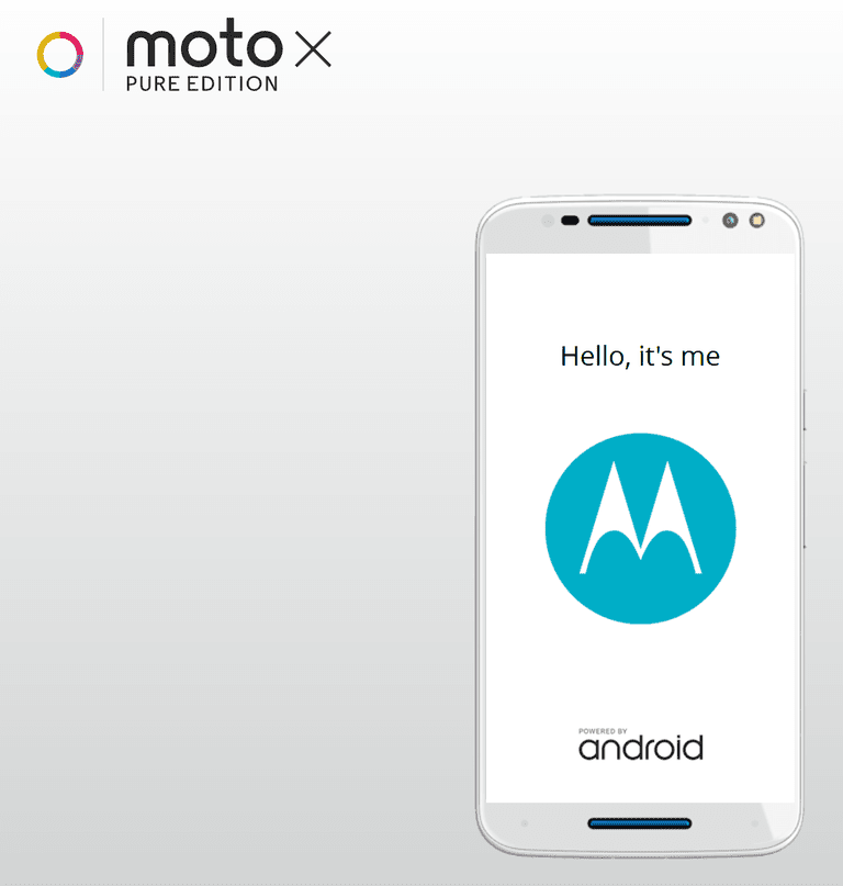 Moto X personalized greeting
