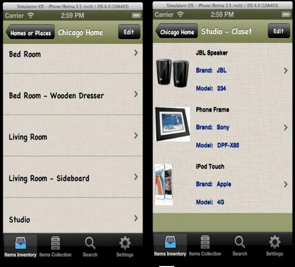 household inventory app