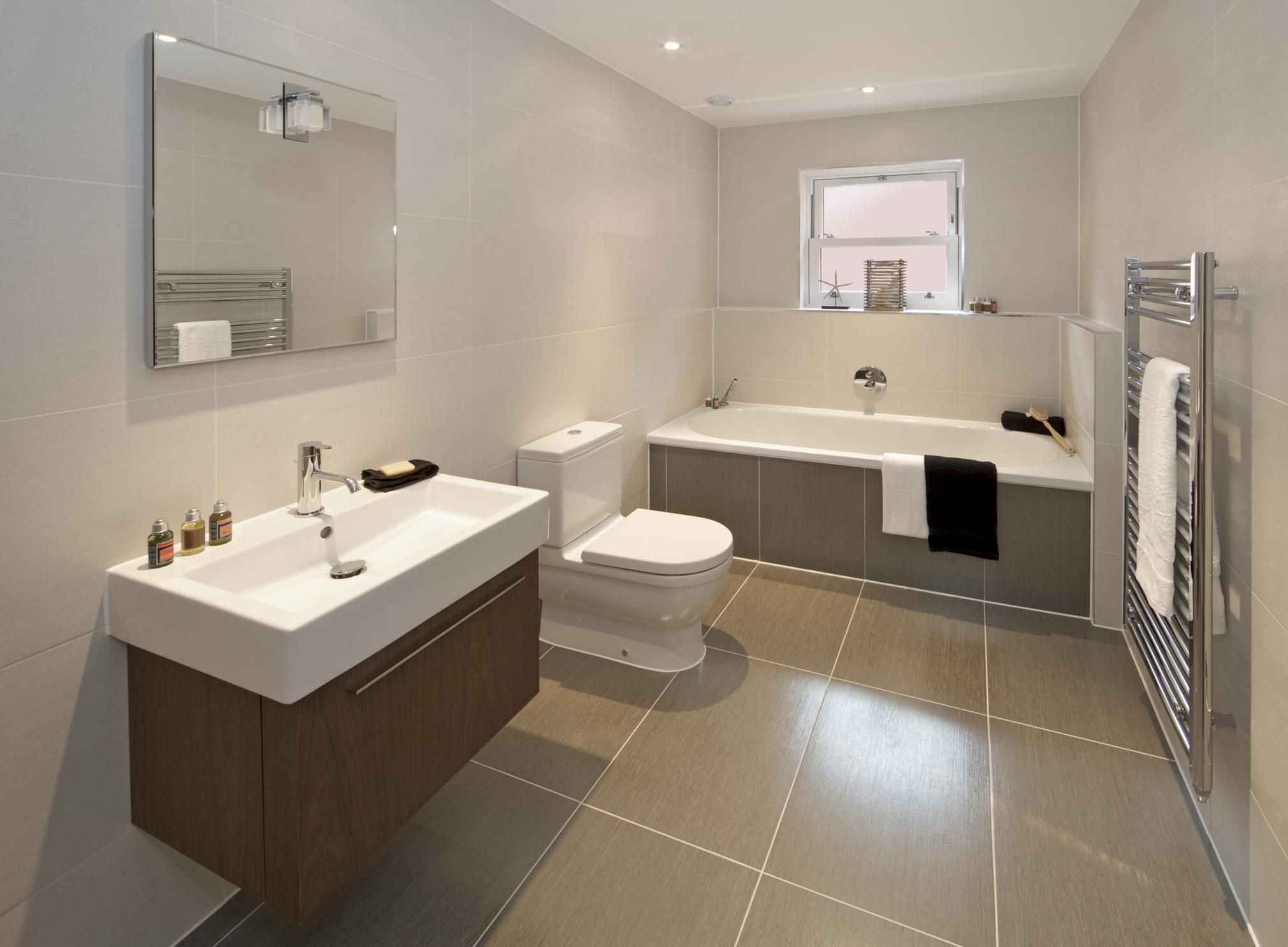 Recommended bathroom flooring - Tile Designer Gives Advice On Best Tile Size For Bathrooms