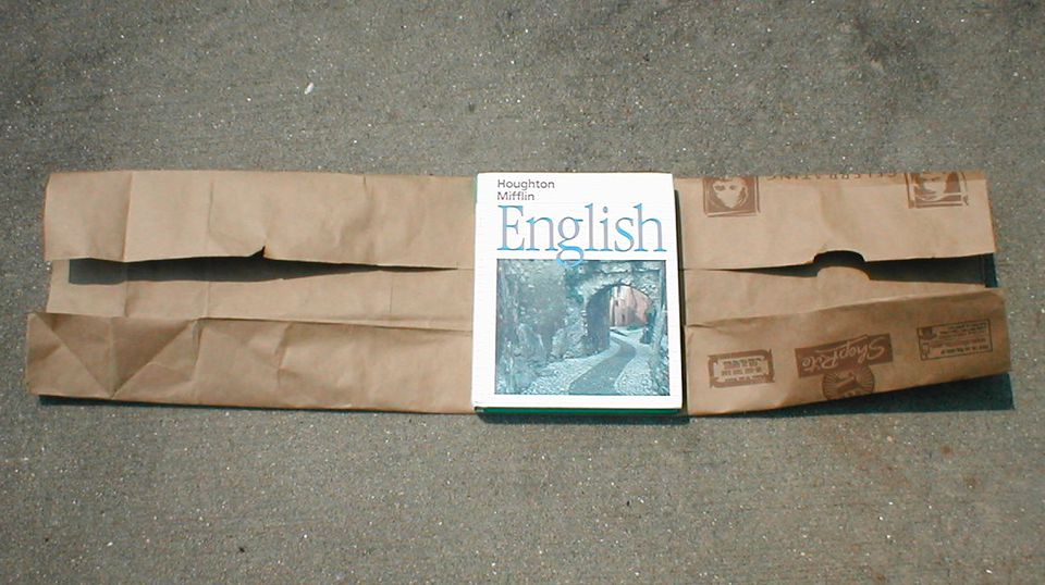 How To Make A New Book Cover : How to make a book cover with paper bag