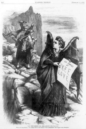 Victoria Hull as Mrs. Satan by Thomas Nast