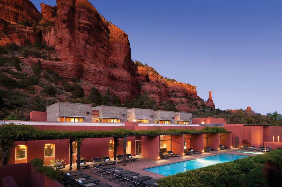 Enchantment Resort in the Red Rocks landscape of Sedona, Arizona