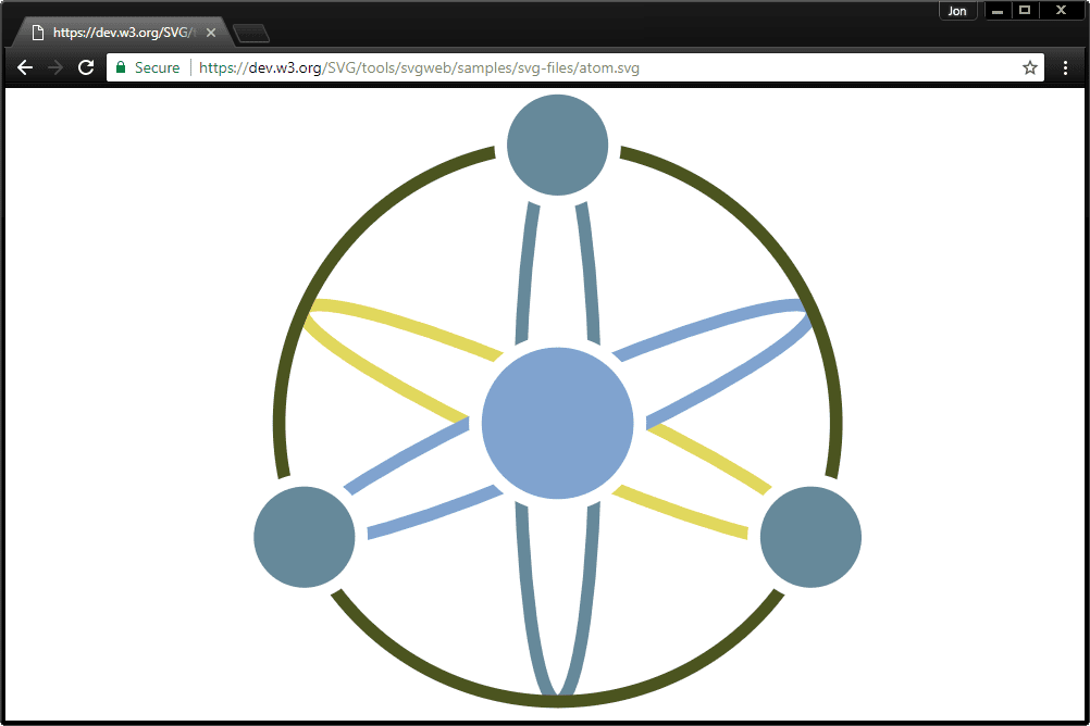 Screenshot of an SVG file open in Chrome