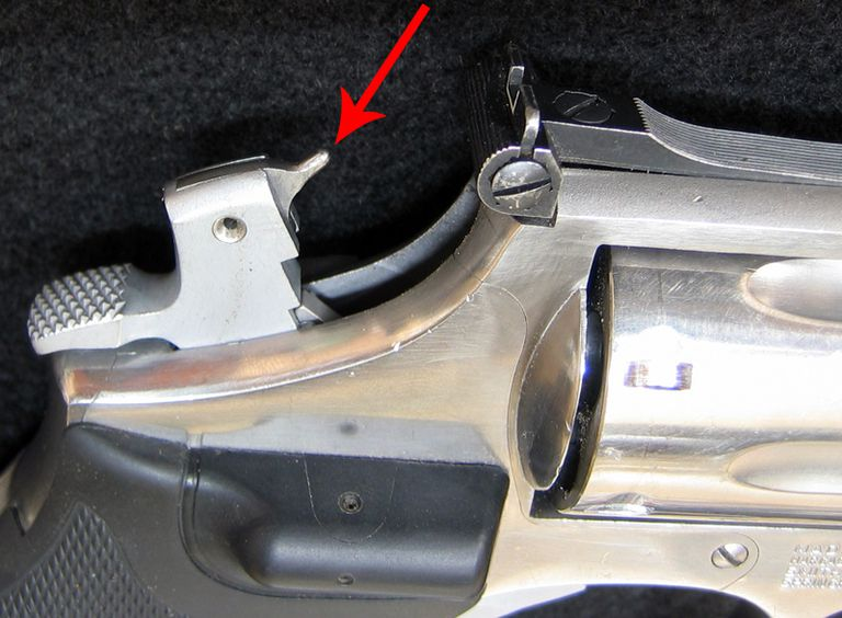 Cocking the hammer of a revolver often allows inspection of the firing pin.