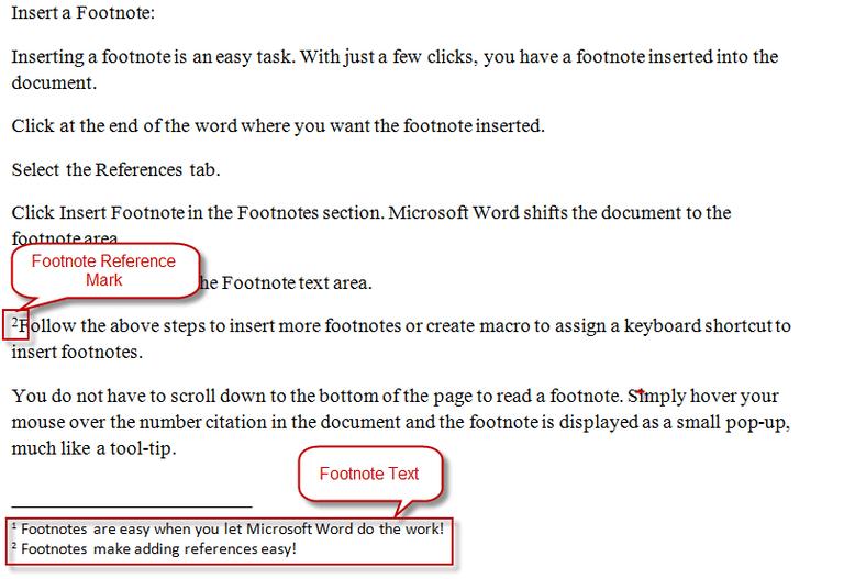 Footnote Parts