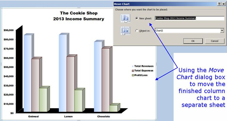how to make chart from excel sheet