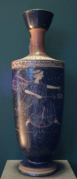 Iris. Attic lekythos, c. 500-490 B.C. From Tanagra.