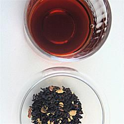 An image of vodka infused with Masala Chai.