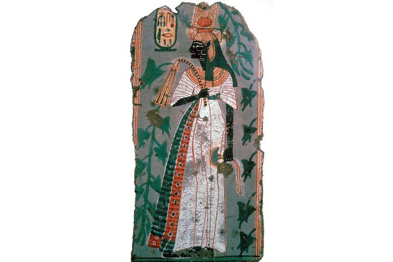 Ahmose-Nefertari, Egyptian wall painting