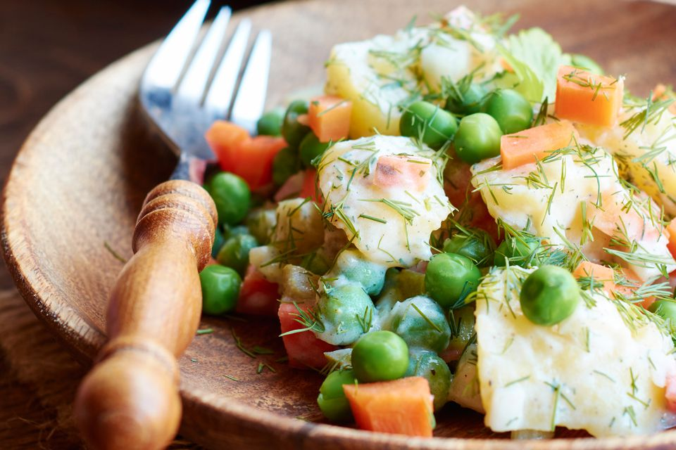 Garden Potato Salad With Peas and Carrots
