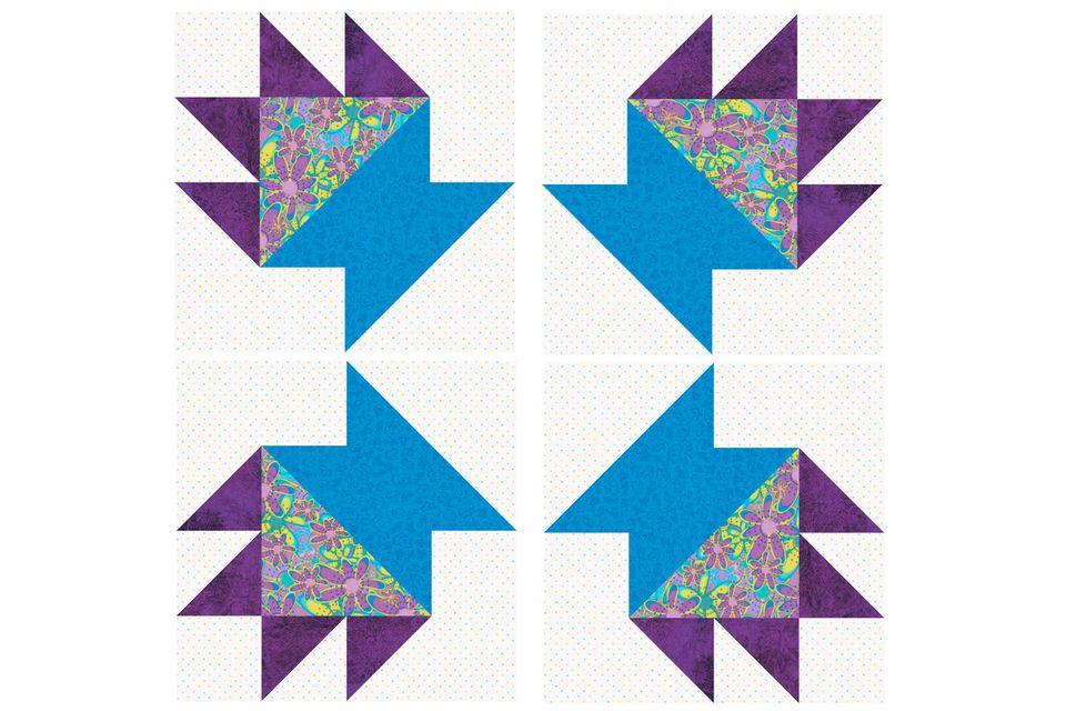 Cactus Pot Quilt Block Pattern
