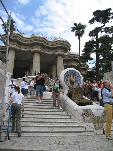Parc Guell in Barcelona in June