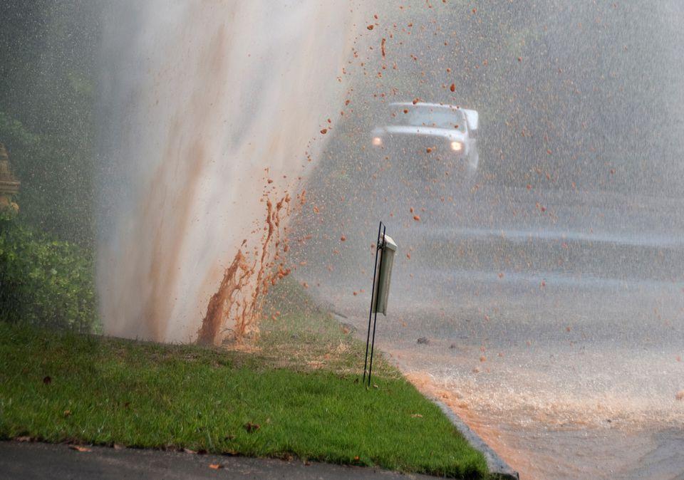Water Line Break in Yard