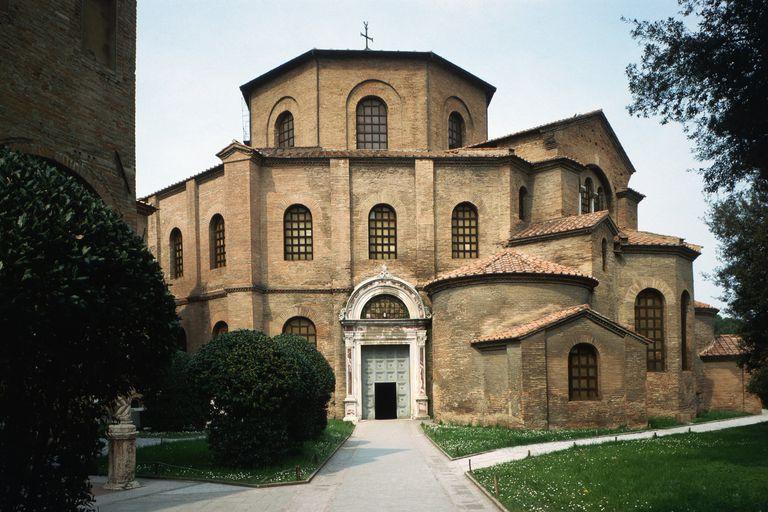 The 6th century Byzantine Basilica of San Vitale in Ravenna, Italy