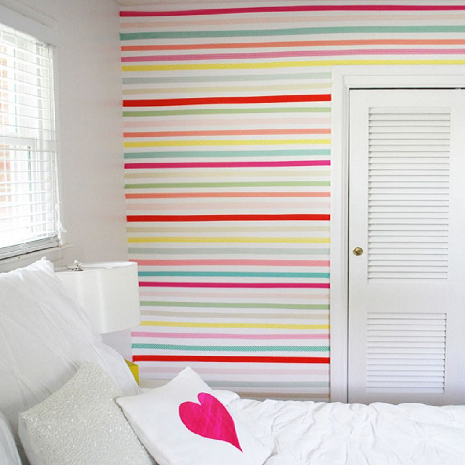 Cover bedroom walls with fabric photo courtesy of anne kelle amipublicfo Choice Image