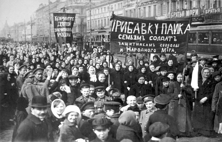 a brief introduction to the russian revolution of  striking putilov workers on the first day of the revolution st petersburg russia