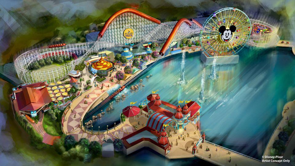 Artist's Concept of Pixar Pier at Disney California Adventure