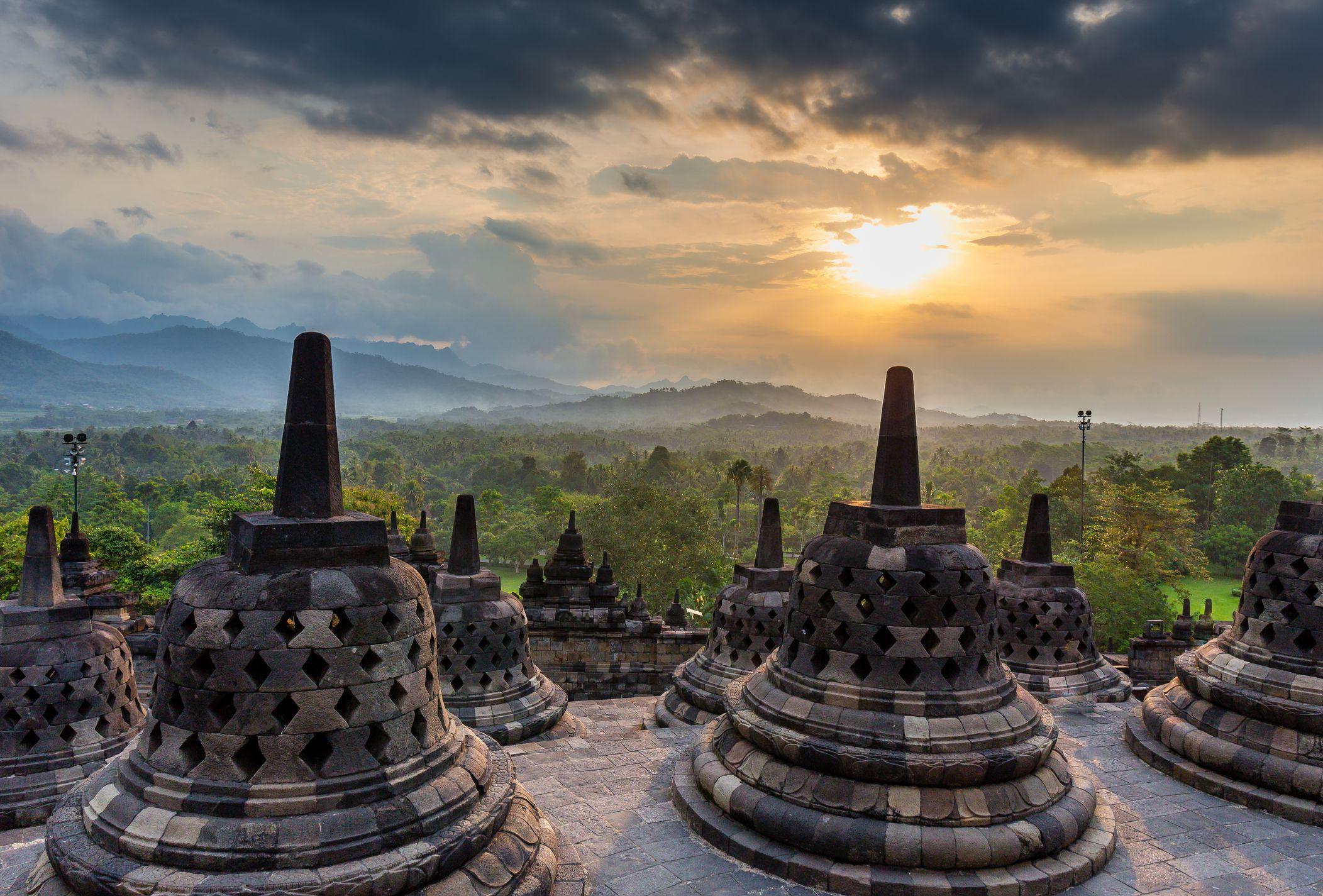 Borobudur Temple  Java, Indonesia