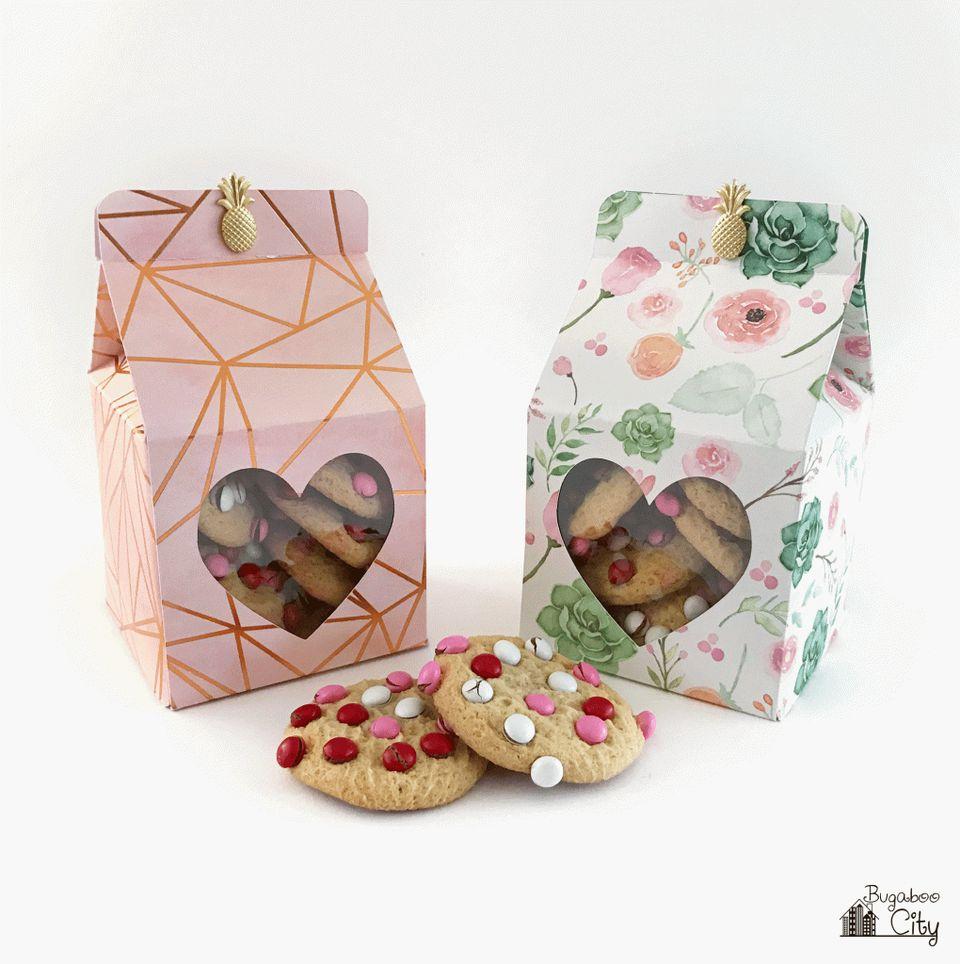 printable Valentine treat box