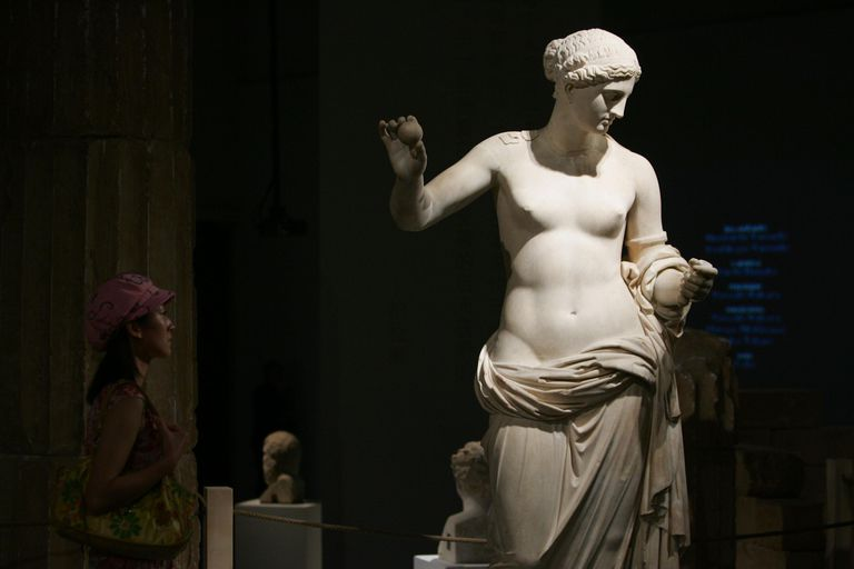 Ancient Greek Art From The Museum Of Louvre Displayed At Beijing's Capital Museum