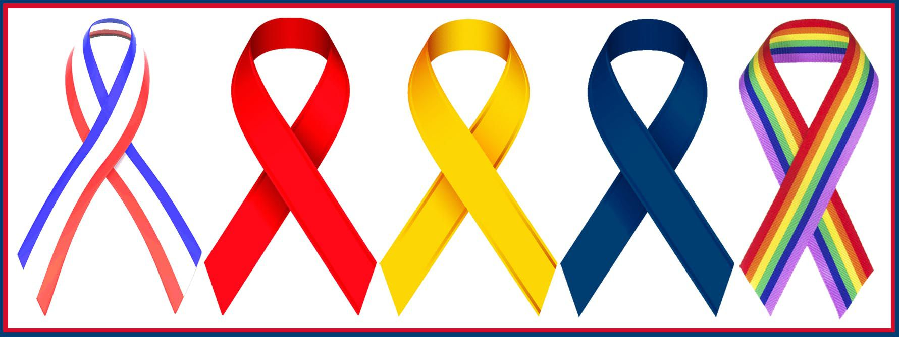 Awareness ribbons list of colors and meanings nvjuhfo Images