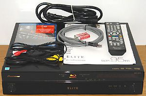 Pioneer Elite BDP-95FD Blu-ray Disc Player - Front View with Included Accessories