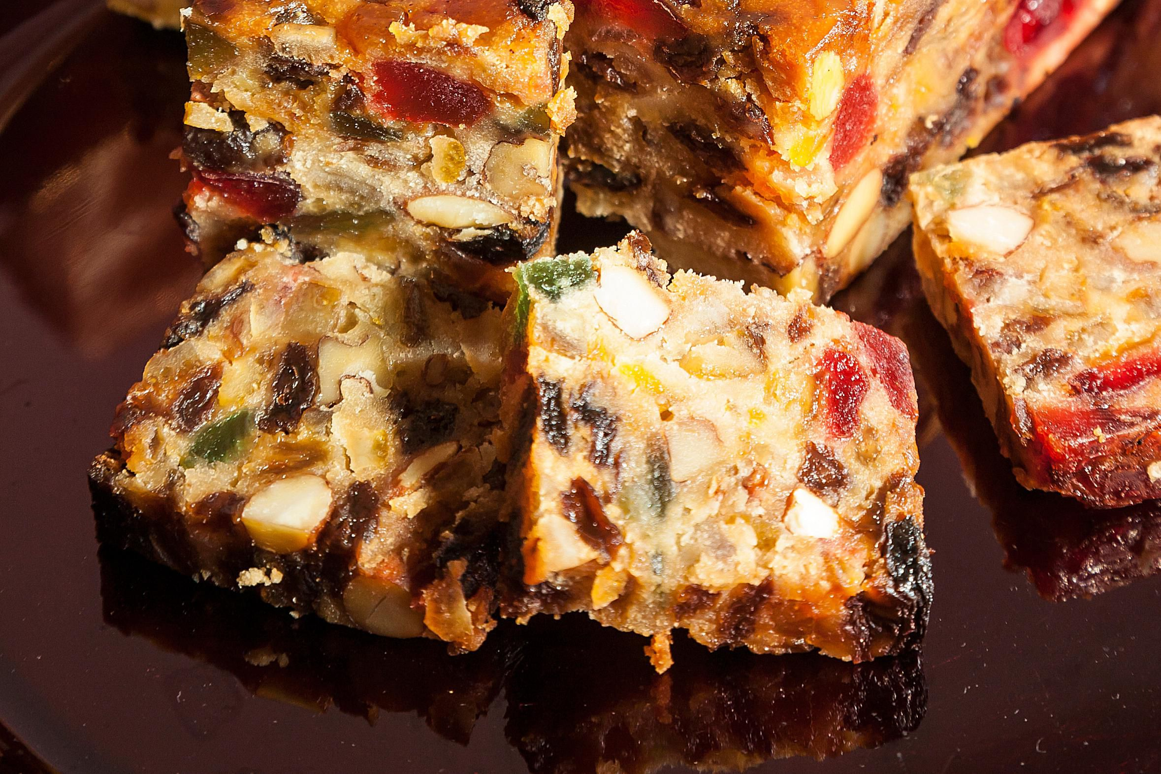 Festive Fruitcake Bars Recipe