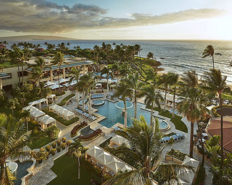 Wailea's highest-rated hotel is Four Seasons Maui