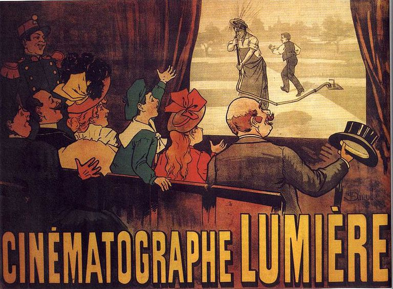 The world's first movie poster, 1895.