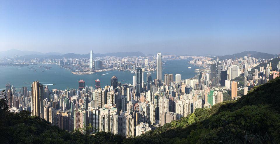 Hong Kong skyline in summer