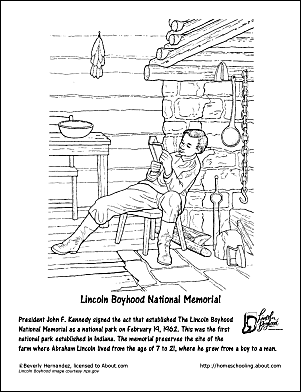 Abraham lincoln printable word search for Lincoln coloring pages