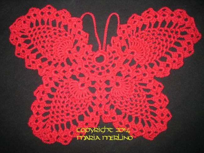 Pineapple Crochet Butterfly Free Pattern