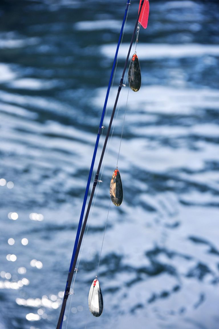 Weights on fishing line