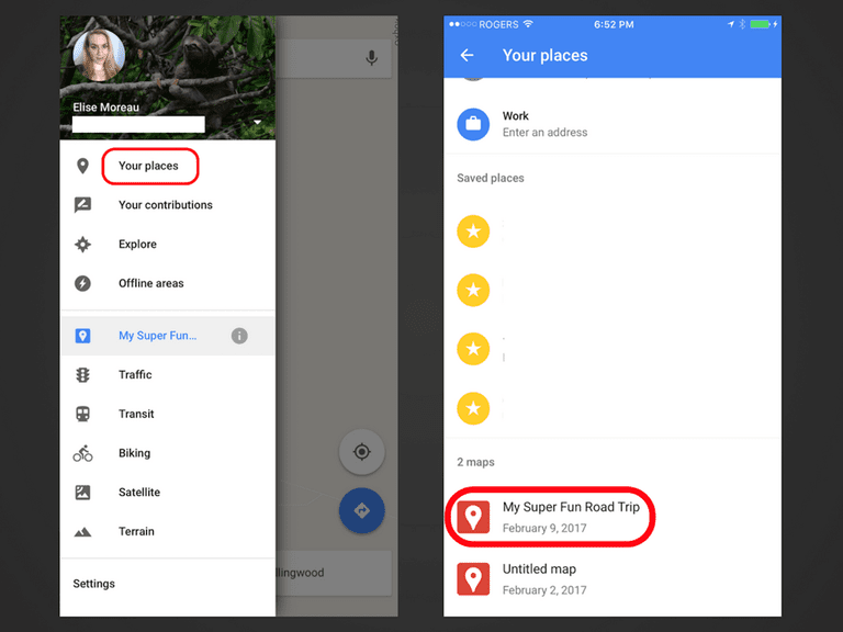 Access Your New Custom Map From The Google Maps App