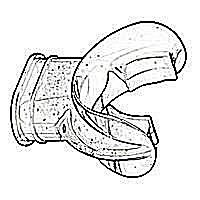 photo of a simple scuba diving regulator mouthpiece