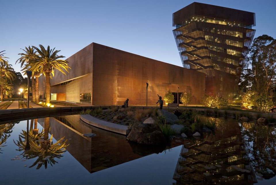The new De Young Museum in Golden Gate Park.