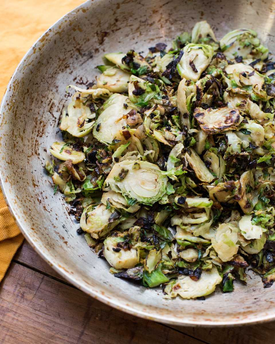 Simple Sauteed Brussels Sprouts and Onions / Katie Workman