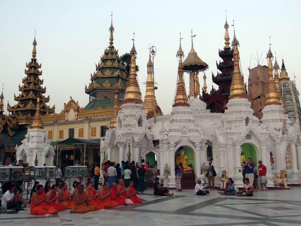 Shwedagon Pagoda in Yangon, Myanmar (Burma)