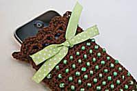 Beaded Crochet Cell Phone Holder