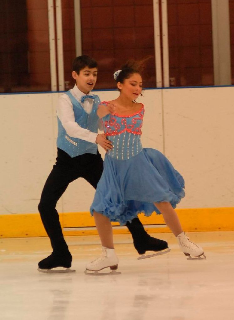 An Ice Dance Team Does Forward Inside Mohawks Together