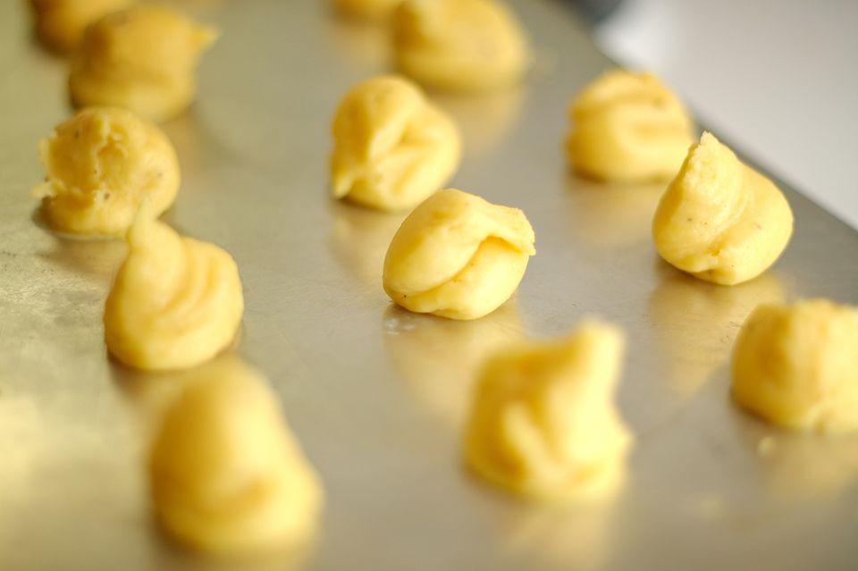 Choux pastry dough